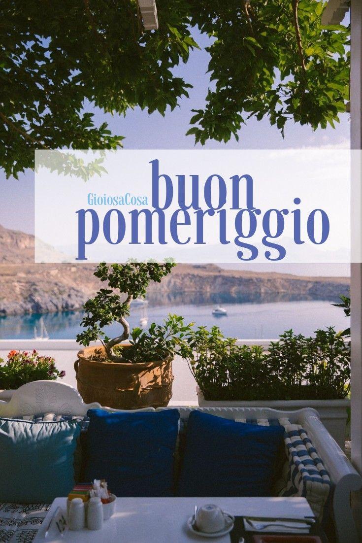 Buon Pomeriggio Estate In Terrazza Con Panorama Italiano