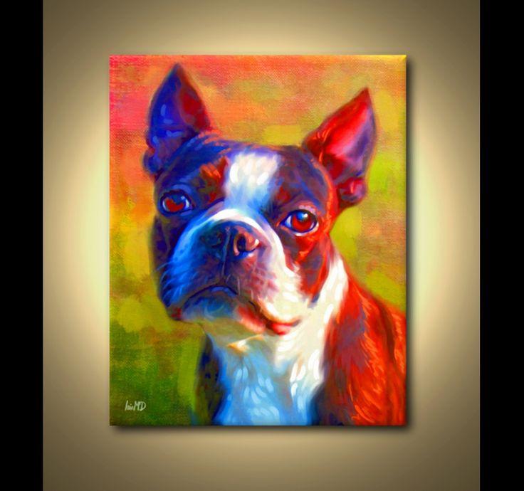 Boston Terrier Print Boston Terrier Art Print by ScottieInspired. LOVE THIS!
