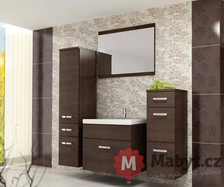 Koupelnový nábytek Alisha s dekorem imitující vzácné dřevo http://www.mabyt.cz/32727-koupelnovy-nabytek-alisha.htm