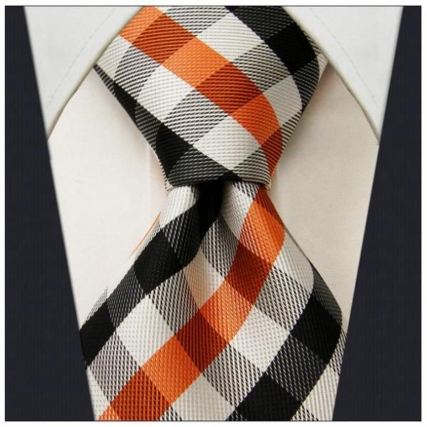 Black / Gray / Orange Check - Neckties Only Collection - NTO-U38 >>> $14.95 w/ Free shipping @ NecktiesOnly.com