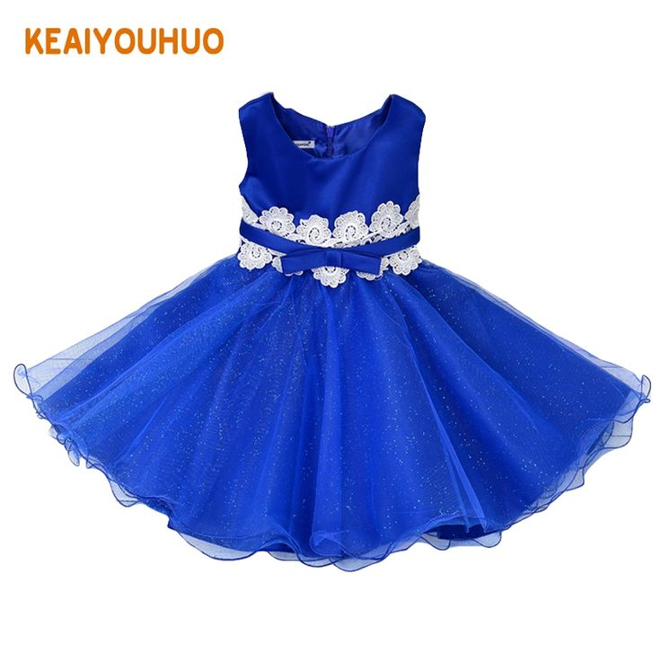 14.87$  Buy here - http://alilz7.shopchina.info/1/go.php?t=32790471901 - 2017 New Children's Christmas Dresses For Girls Wedding Party Baby Girl Kids Prom Gown Dress Flower tutu Girl Clothing blue  #buyininternet