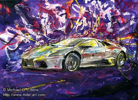 Lamborghini Reventon Painting And Drawing Of A Car Lamborghini
