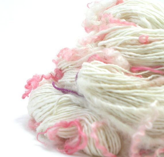 Merino Silk Faux Cashmere Handspun Yarn with by TheSavvyStitch