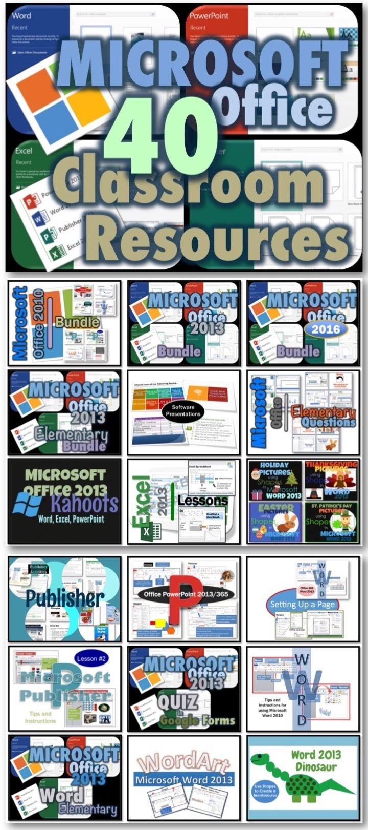 40 Microsoft Office Lessons and Activities for Your Classroom!