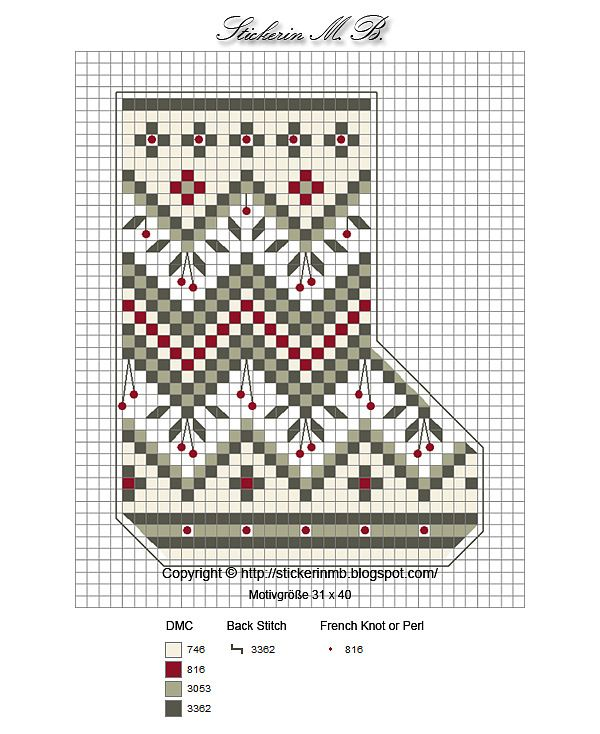 Mini Cross-stitch Christmas Stocking #Noel, Part 1