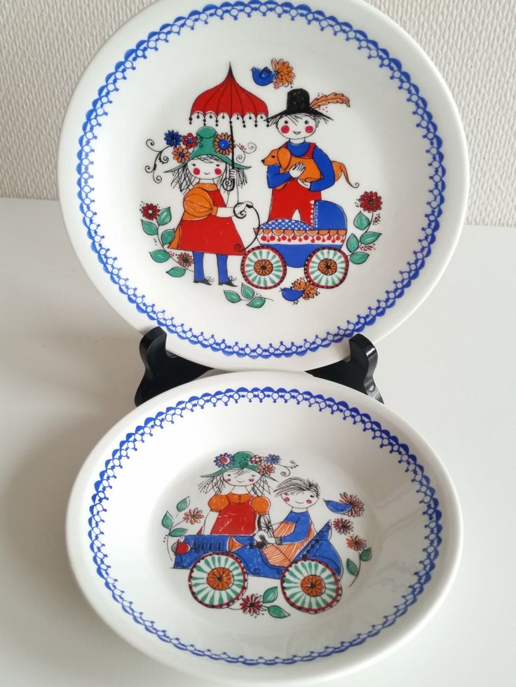 Excited to share the latest addition to my #etsy shop: Figgjo Flint Norway childrens plate bowl set. Scandinavian vintage retro gift.