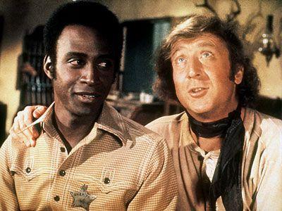 "Cleavon Little as Sheriff Bart & Gene Wilder as The Waco Kid in Mel Brooks ""Blazing Saddles"""