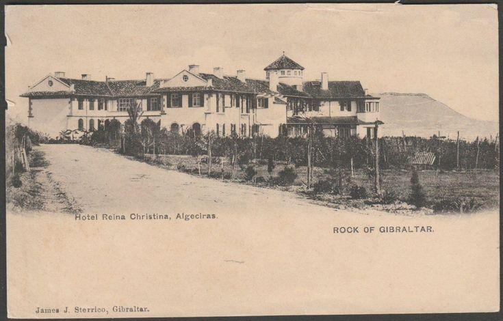Hotel Reina Christina, Algeciras, España, c.1905 - Sterrico Tarjeta