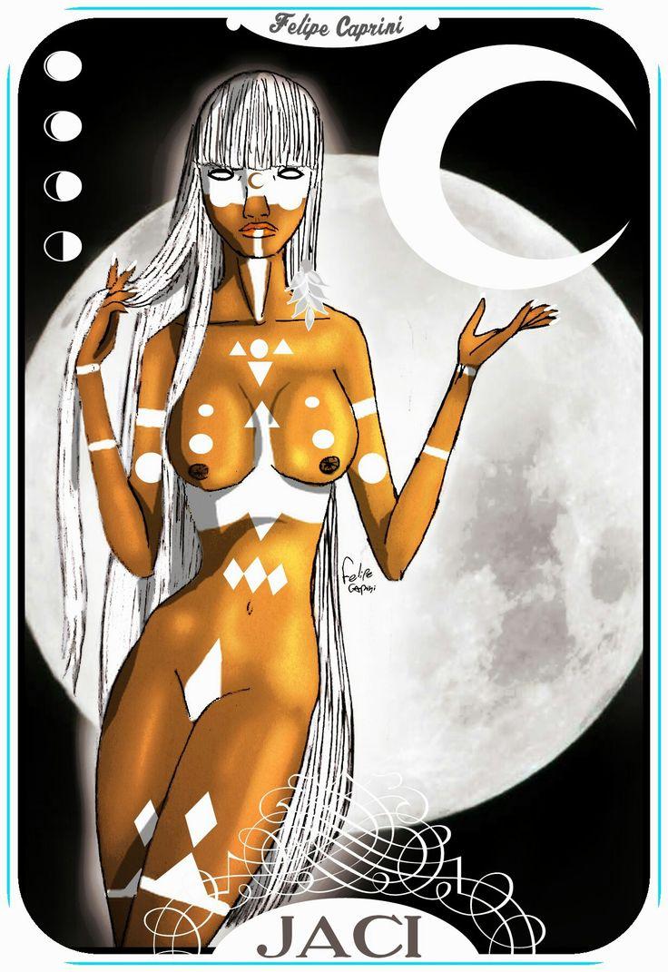 Jaci Deusa dos Indios Guarani,  senhora da LUA