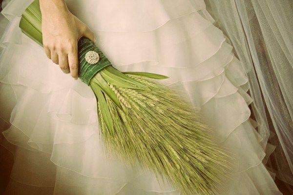 Opção: Decoração de casamento sem flores (buquê com trigo)