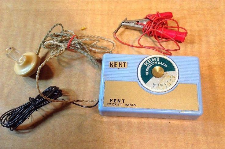 Vintage KENT Germanium pocket radio #Kent