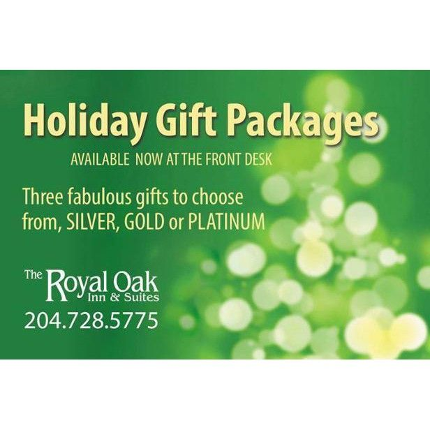 We have three great holiday gift packages available at our font desk! Call today for all the details!