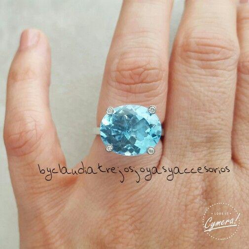 Aniversary blue topaz  ring byCT