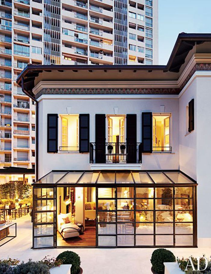 Adore the glasshouse addition - Song of Style: A Monte Carlo House by Timothy Whealon