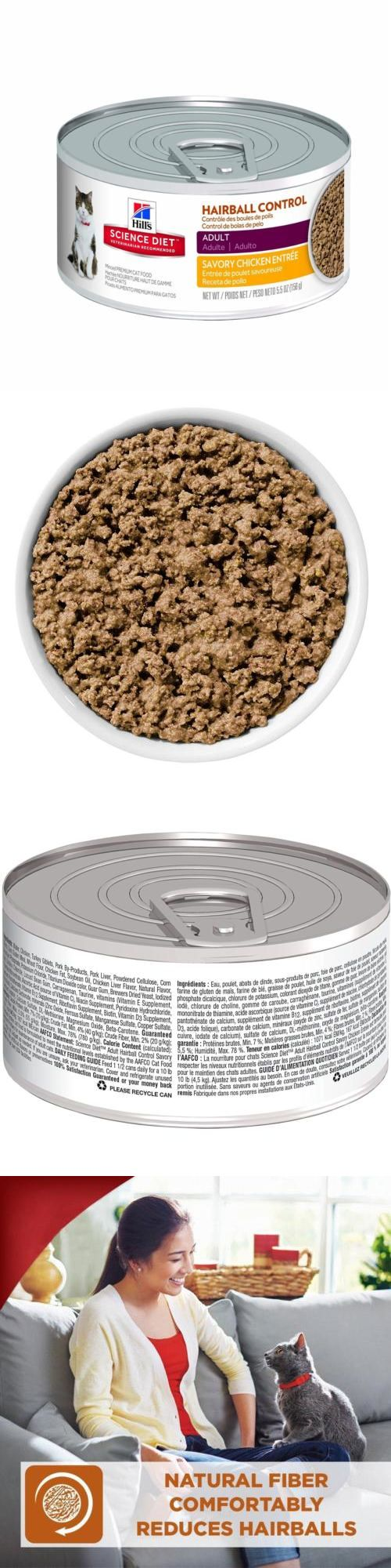Cat Food 63073: Hill S Science Diet Adult Hairball Control Entree Minced Cat Food, 24-Pack -> BUY IT NOW ONLY: $61.82 on eBay!