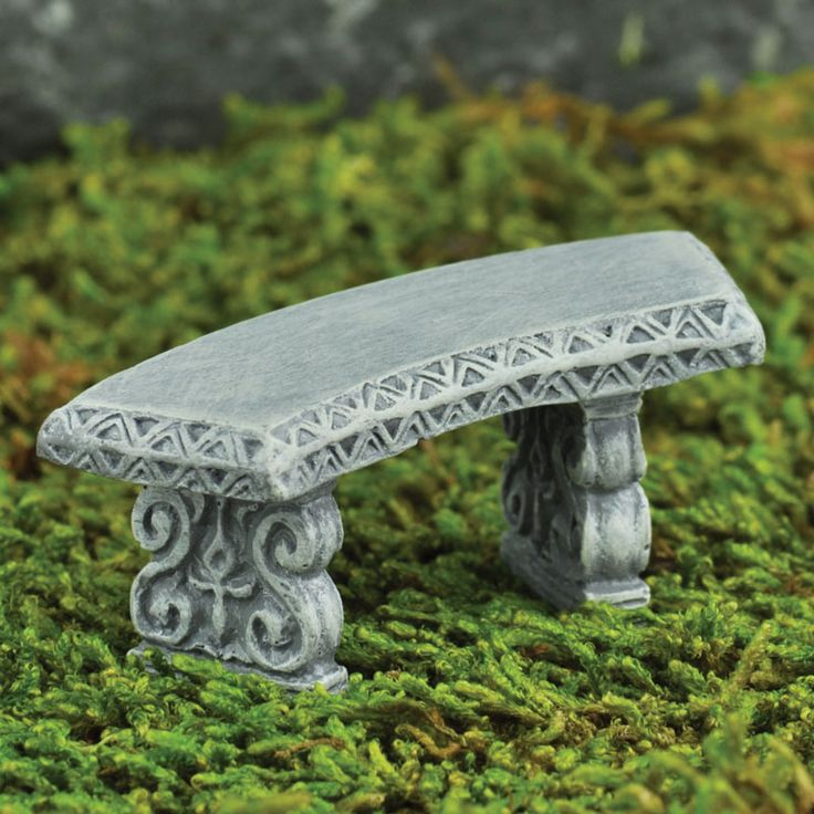 MICRO CURVED BENCH - This tiny little bench is for the micro loving magical world creator. Perfect size for the micro world inside a pot, a tea cup or a micro world inside a fairy world. A must for your Enchanted Fairy Garden.   #fairygardeningaustralia