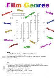 english worksheet crossword on film genres film reviews pinterest english crossword and film. Black Bedroom Furniture Sets. Home Design Ideas