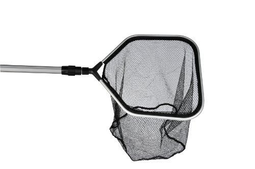 Medium Fish Net by Hozelock. $24.95. Hozelock Quality. 12 inch Diameter Net. Rubber Hand Grip. Telescoping Aluminum Handle from 39 inches to 70 inches. Fishsafe Black Netting. Pond Net designed for catching all types of pond  Fish up to 8 inches in length. Ideal for a small to medium pond.