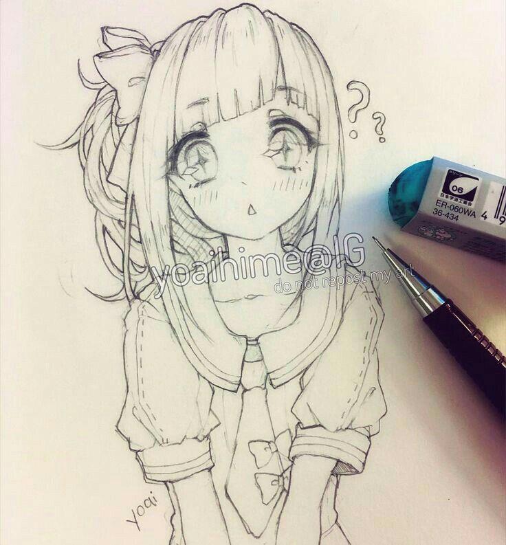Kawaiiiii anime girl drawing