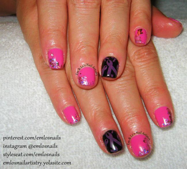Shellac ~ Shellac Nails ~ Breast Cancer Awareness Nails For Upcoming