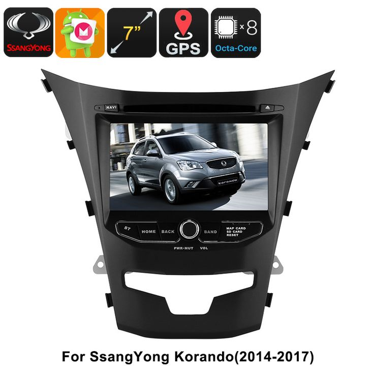 2 DIN Car DVD Player - For SsangYong Korando, 7 Inch HD Display, Octa-Core, GPS, WiFi, 3G, Bluetooth, CAN BUS, Android 6.0 - 2 DIN Car DVD Player is a great car accessory that brings the latest Android features into your vehicle. Watch movies, play games, browse the web, and more.