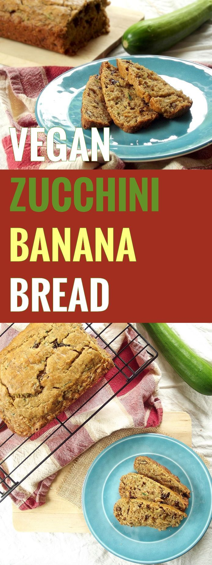 This vegan zucchini bread is moist, delicious, and bursting with sweet banana flavor, cinnamon, crunchy walnuts and sweet raisins. (Baking Bread Zucchini)