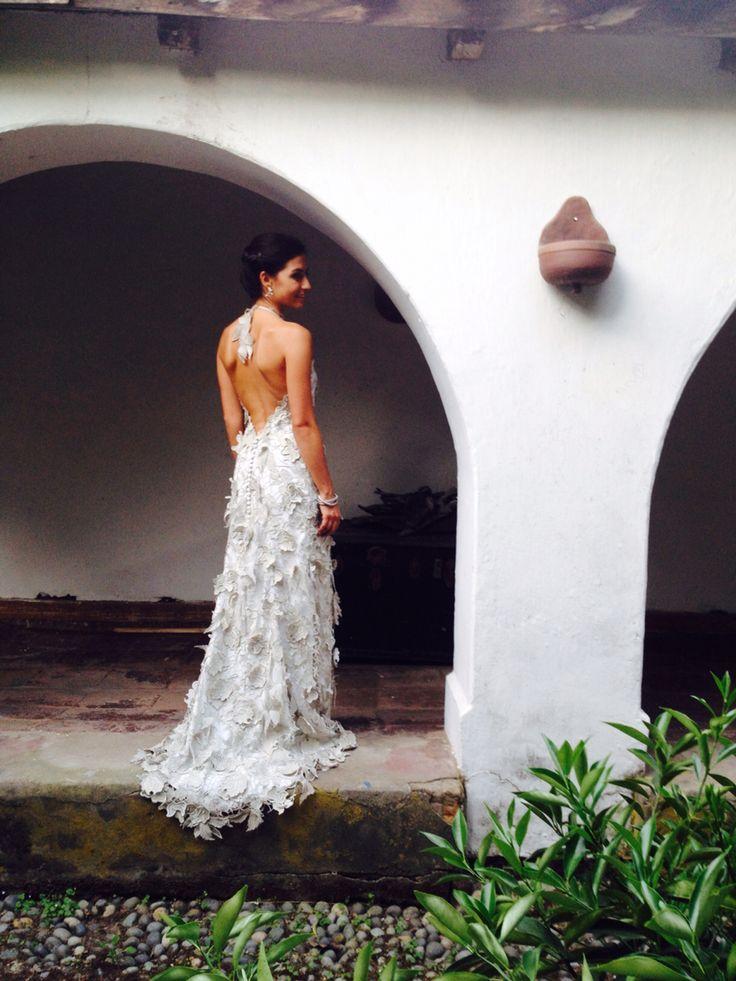 Mi bello vestido de novia diseñado por mi #ninihuidobro