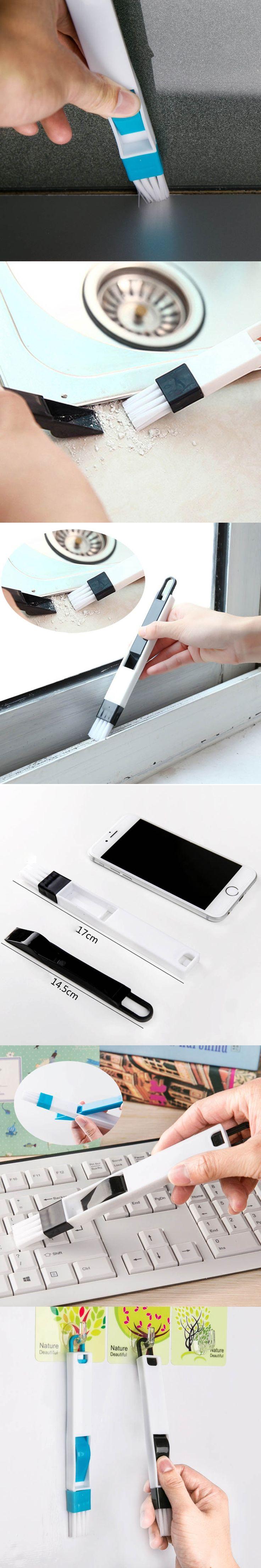 Multi-function Window Door Dusting Cleaning Brush With Dustpan Screen Keyboard Drawer Wardrobe Gap Corner Brush Cleaning Tool