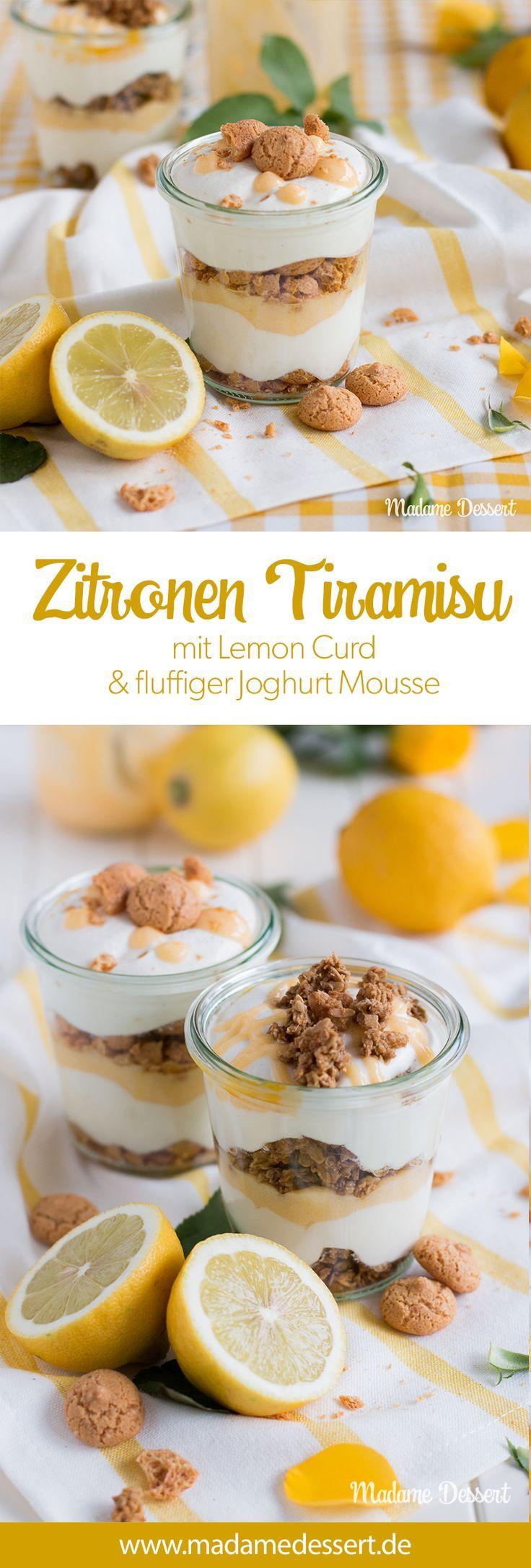 Rezept für leckeres Zitronen – Tiramisu mit Zitronenquark – Joghurt – Mousse | Madame …   – Desserts