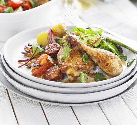 Chicken with chorizo & leeks | BBC Good Food