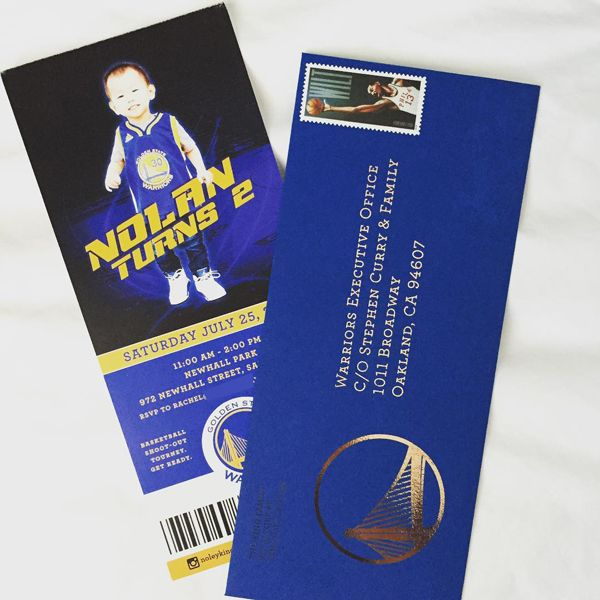 golden state warriors basketball ticket invite for a birthday party