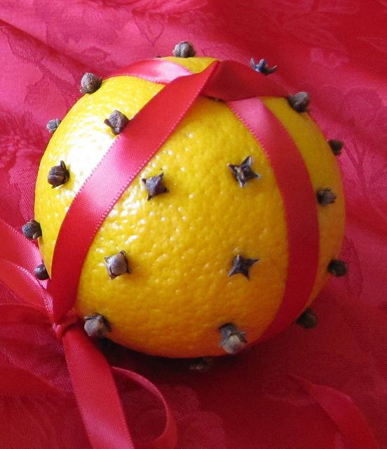 Orange and cloves. A Danish Christmas tradition. Christmas and how people celebrate it around the world