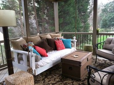 porch swings | Swing Bed from Vintage Porch Swings - Charleston SC - eclectic - porch ...