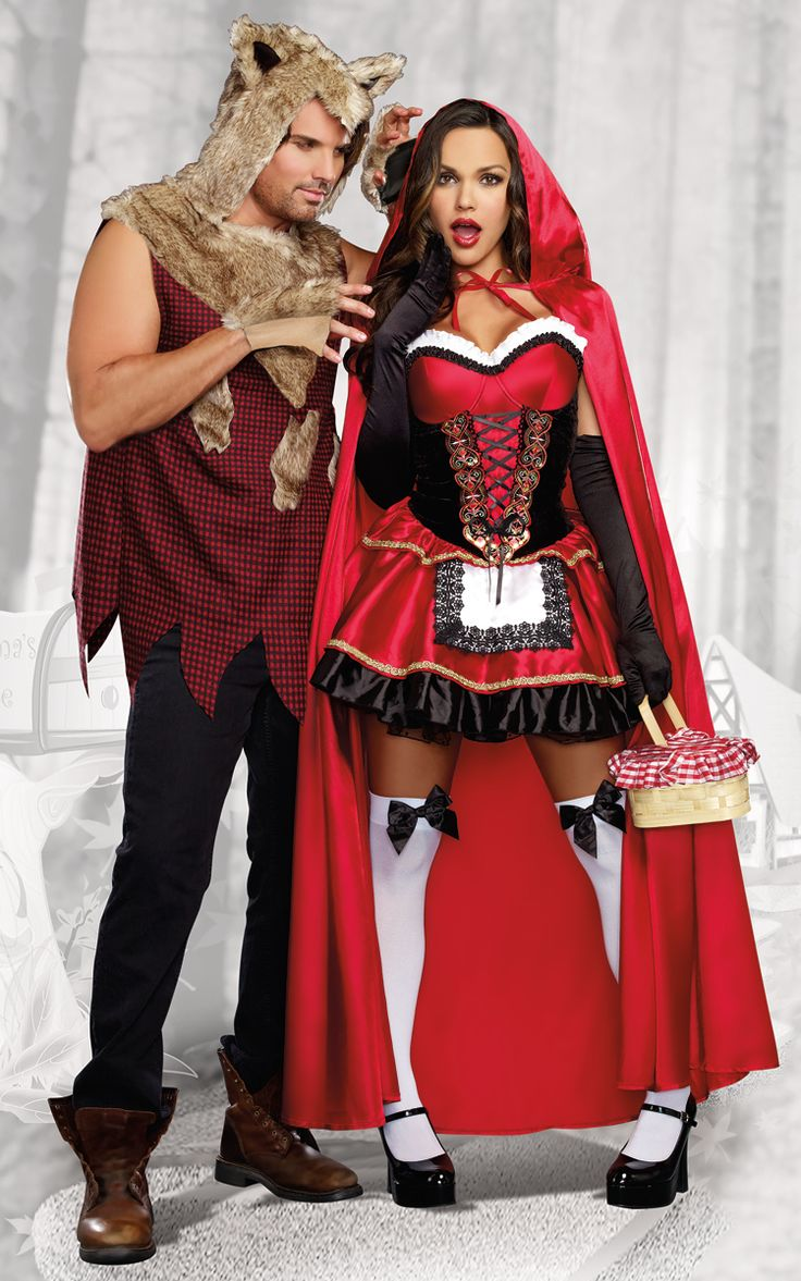 Little Red Riding Hood Couples Halloween Costumes-1984