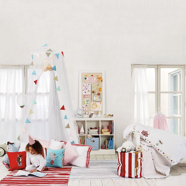 Circus Bed Linen | The White Company. Shopping from the US? -> http://us.thewhitecompany.com/The-Little-White-Company/Circus-Collection/c/circus-childrens-collection