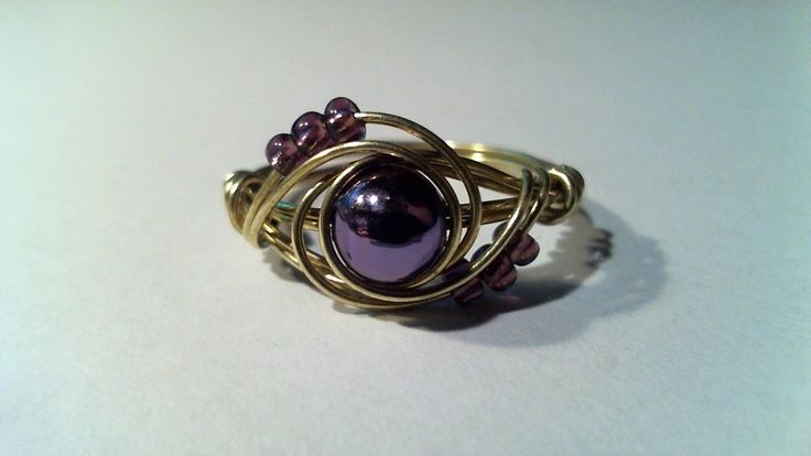 Simple wire wrap ring tutorial. Anello semplice in filo di ferro.