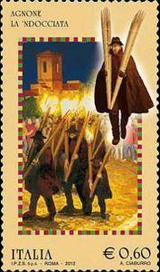 Issued in 2012, Italia - Agnone, La 'Ndocciata