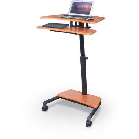 Balt Up-Rite Mobile Sit-Stand Workstation, 27-1/2w x 22-1/2d x 45-1/2h, Cherry, Multicolor