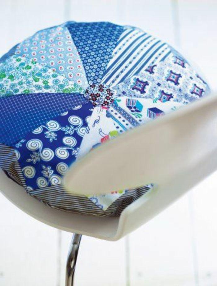 galette de chaise colorée, design original pour choisir bien une galette de chaise ronde