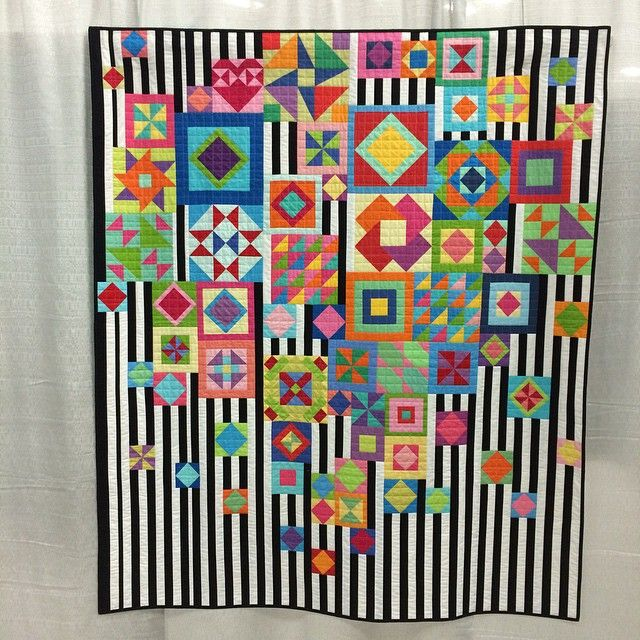"""""""@cathmosely 's amazing all solids Gypsy Wife quilt (pattern by @jenkingwell )"""""""