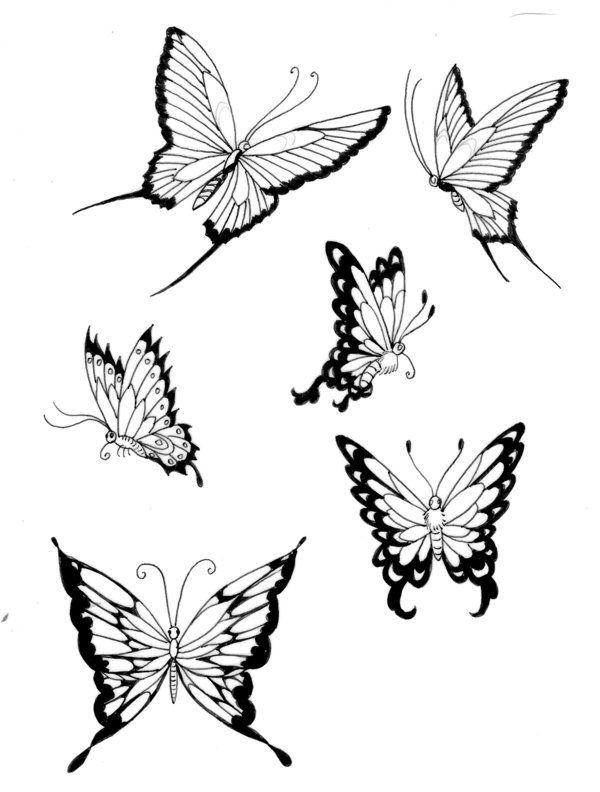 Butterflies- lines 3 by koshii on DeviantArt | Tattoos ...