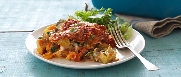 Roasted Vegetable Lasagne recipe from Food in a Minute
