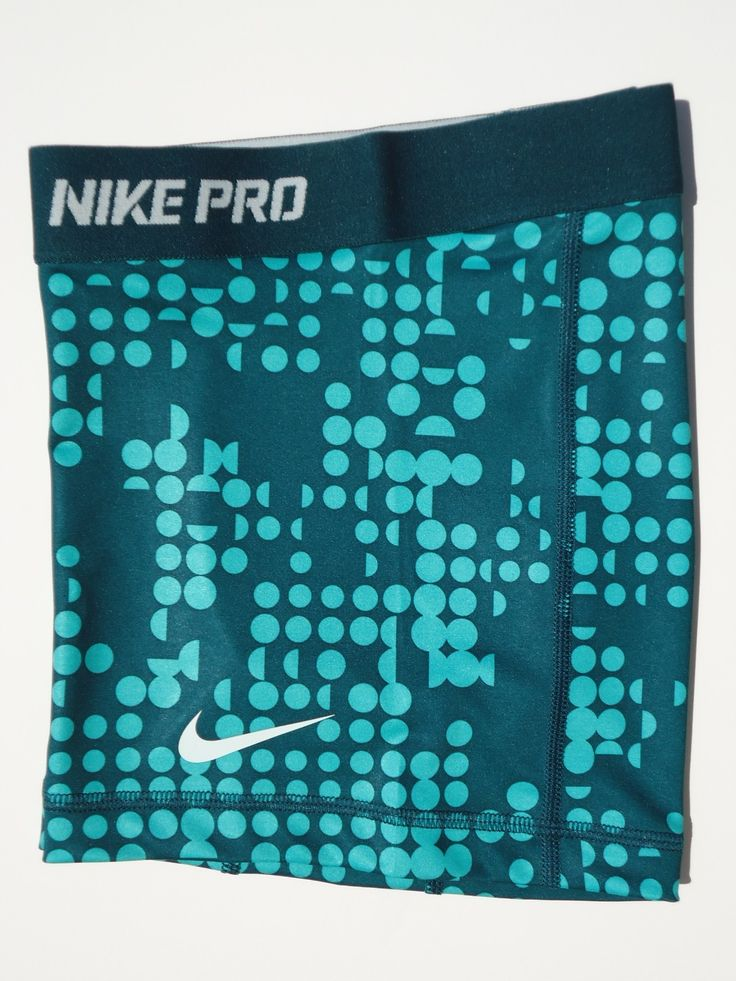 "New XS Nike Pro Core 2 5"" Atomic Teal Print Women's Compression Shorts x SML 