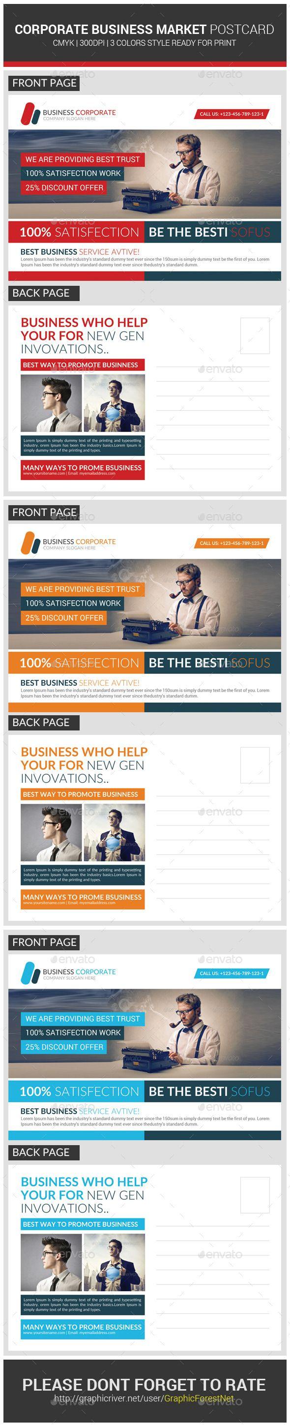 Marketing Corporate Business Postcard Template
