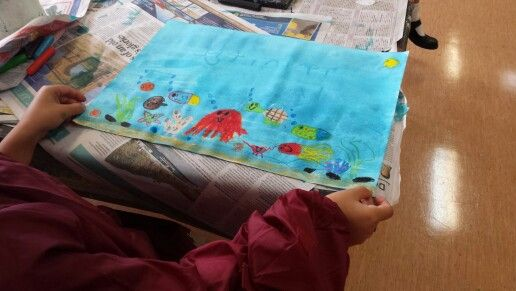 Under The Sea Crayon Resist by Grade One