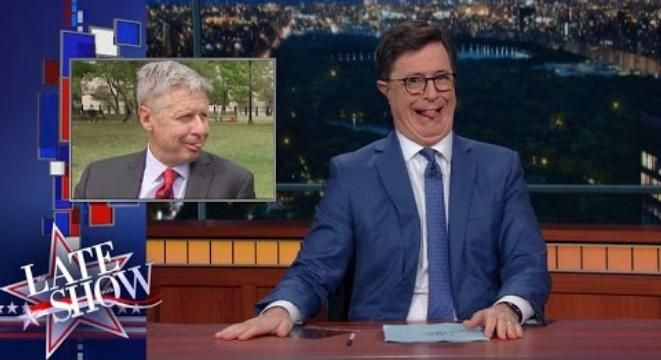 Stephen Colbert Is Pretty Sure Libertarian Candidate Gary Johnson Is Totally Off His Rocker