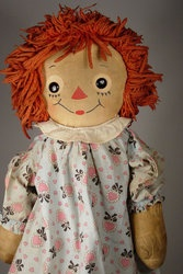 My oldest daughter has my original Raggedy Ann doll.  I also had a small Raggedy Andy, she has that one too :)