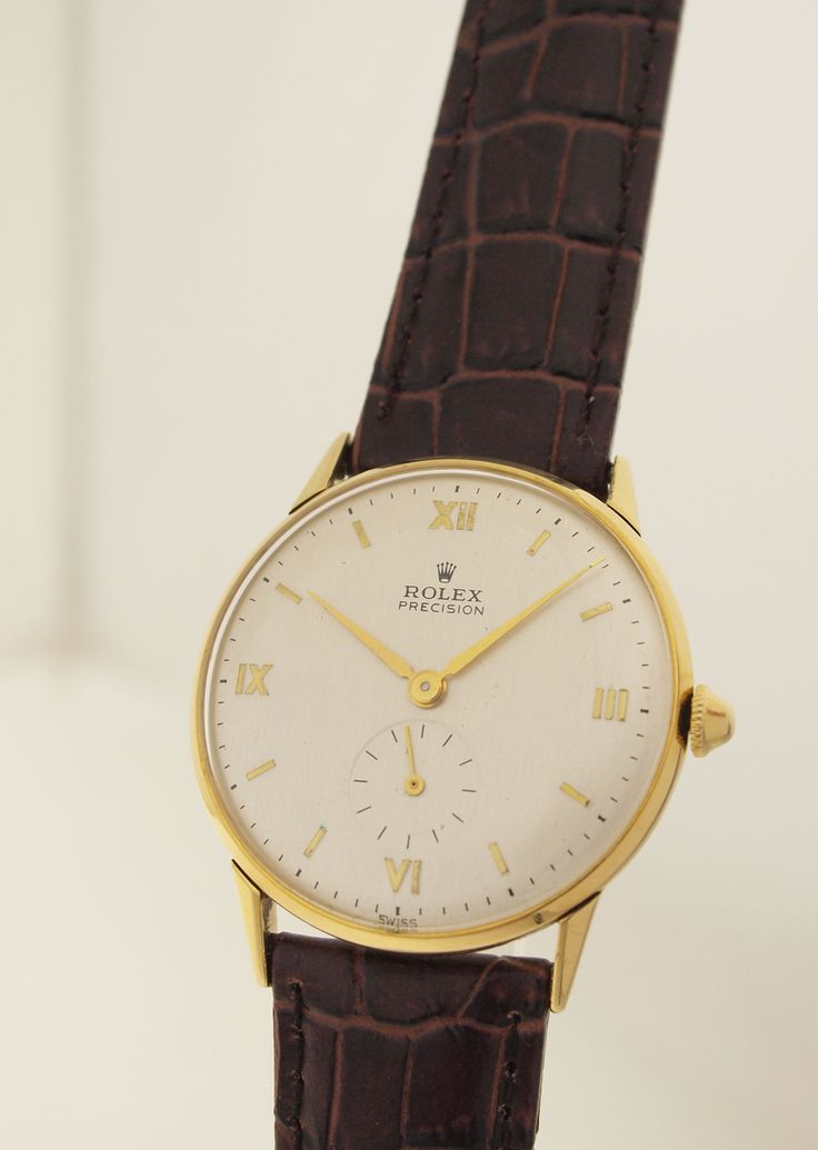 ROLEX PRECISION REF. 3667 IN 18ct GOLD - KLASSISCHE HERRENUHR - 1940er ...