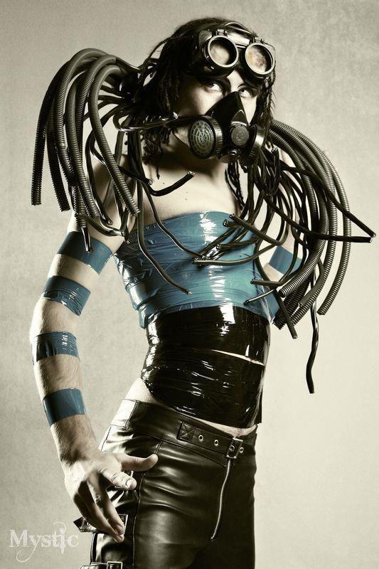.cyberpunk female costume