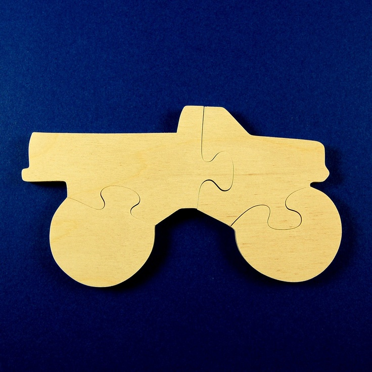 Monster Truck Party Favors - Childrens Wood Puzzles - Package of 10 Truck Puzzles - All Natural Wooden Toys - Fun for Toddler and Kid Partys. $23.50, via Etsy.